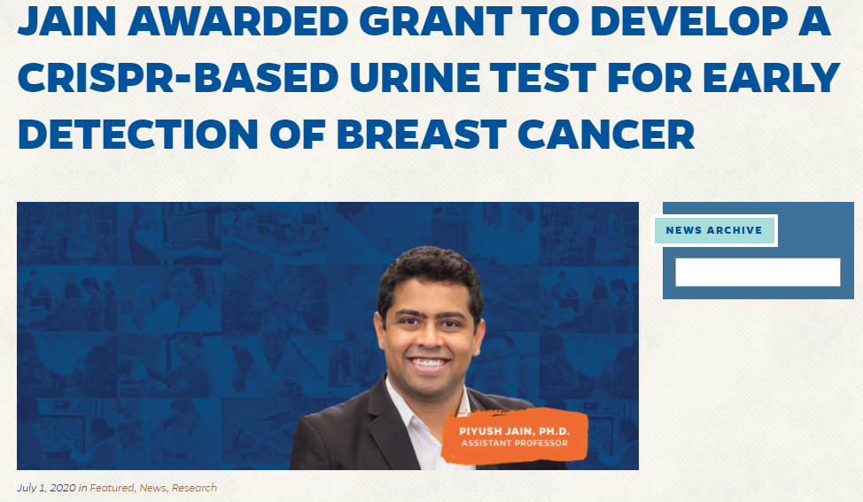 Awarded a grant from Florida Breast Cancer Foundation