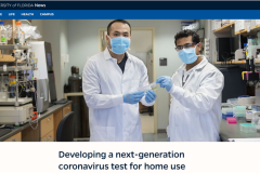 Our COVID-19 work highlighted on UF Homepage
