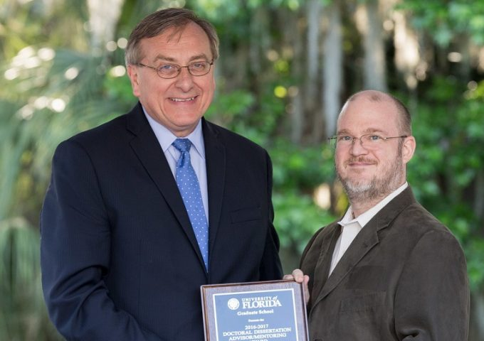 Kirk Ziegler Wins Faculty Doctoral Mentoring Award