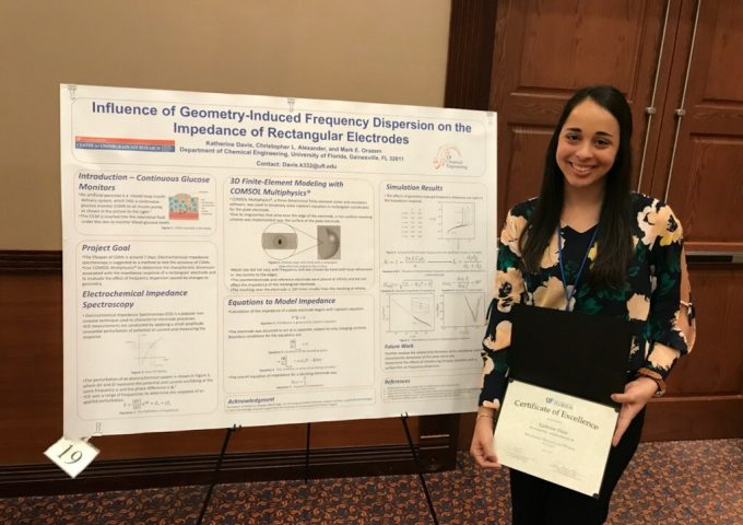 Katherine Davis Receives Best Paper Award For Her Research On Electrodes Used To Monitor Glucose Levels For People With Type I Diabetes