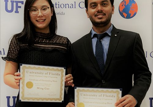 Two Students Receive The Outstanding International Student Award 2018