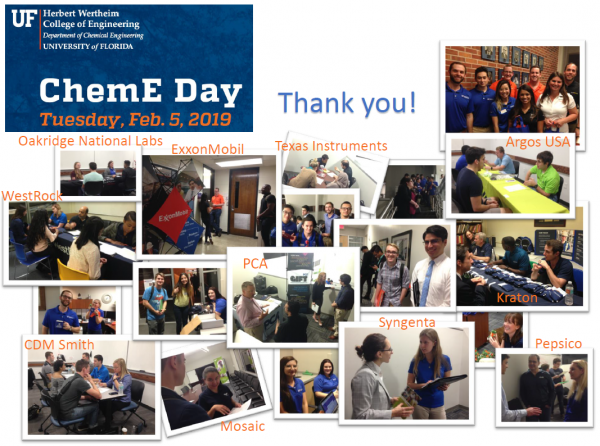 Students Participate In 2019 ChemE Day