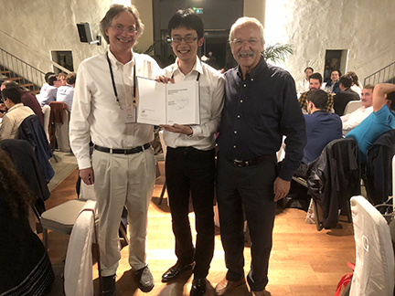 Bernard and Mark with the winner of the student poster prize. The student is Noriyuki Furukawa from the Tokyo University of Science in Japan.